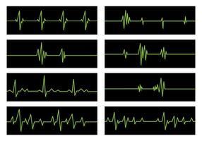 Conjunto de vetores de linha plana