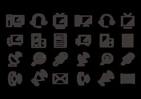 Vector de ícones de comunicação