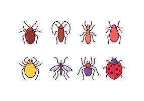 Ícones de insetos grátis vetor