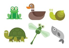 Vector de animais de pântano grátis