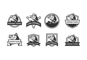 Emblema de vetor de peixe livre