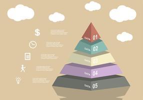 Vetor de gráfico de piramide