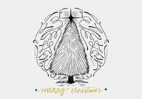 Fundo de Natal desenhado à mão vetor