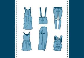 Vetor de jean azul grátis