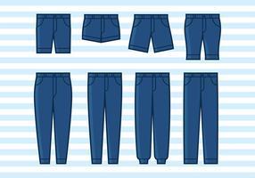 Ícone plano de jean azul vetor grátis