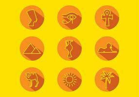 Piramide icon set free vector