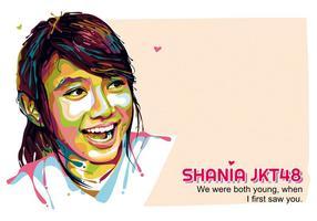 Shania jkt48 - popart portrait vetor