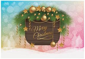 Papel de Parede de Feliz Natal vetor