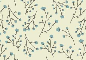 Padrão de flores de algodão vetor