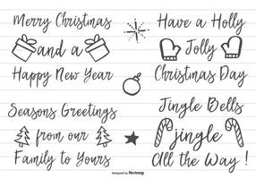 Letra desenhada mão bonito do Natal vetor