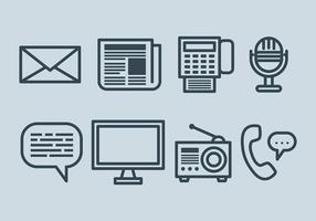 Vector de ícones de comunicação grátis