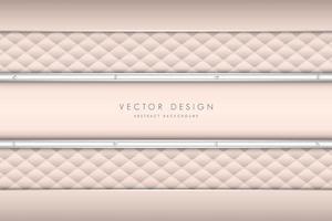 padrão de estofamento rosa elegante e painéis vetor