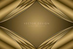 moldura de diamante dourado metálico luxuoso vetor