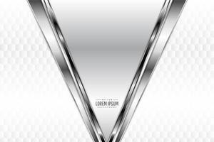 Bordas angulares de metal prateado com padrão poligonal vetor
