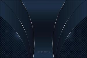 Painéis metálicos curvos da marinha com brilho sobre o padrão de diamante vetor
