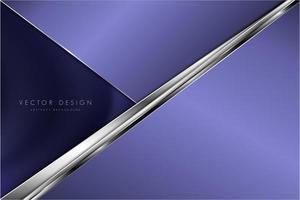 design de camada angular roxa e prata metálica vetor