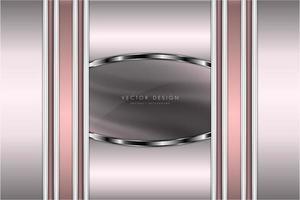 luxo rosa e prata elegante design moderno vetor