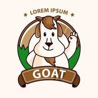 emblema do mascote da cabra vetor
