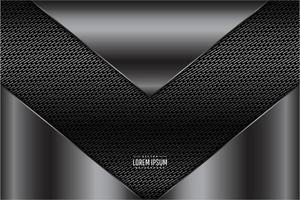 forma de seta cinza design metálico vetor
