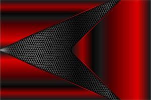 Painéis metálicos vermelhos sobre textura de grelha cinza vetor