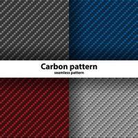 conjunto de padrão sem emenda de fibra de carbono vetor