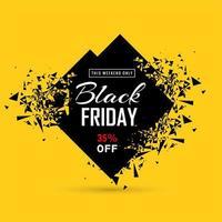 banner de venda sexta-feira negra com diamante explodindo vetor