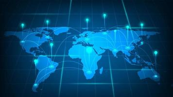 conceito de conexão de rede global vetor