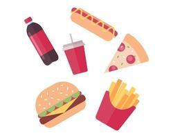 coleta de junk food vetor