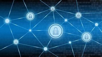 fundo azul de segurança de tecnologia cibernética