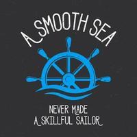 design de camiseta marinheiro liso vetor