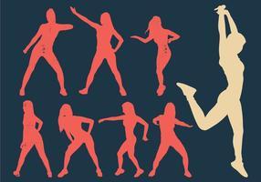 Silhueta dançarina mulher zumba vetor