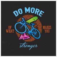 design de camiseta de bicicleta vetor