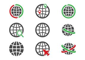 Ícones Globus vetor