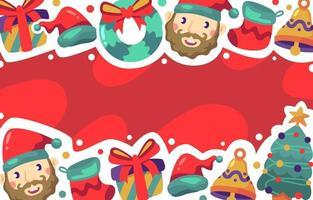 fundo de natal festivo e fofo
