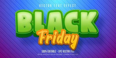efeito de texto editável black friday vetor
