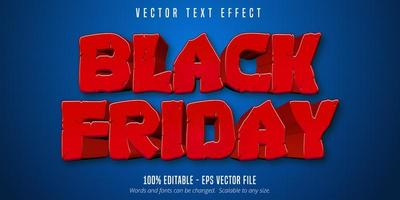 efeito de texto editável estilo cartoon black friday