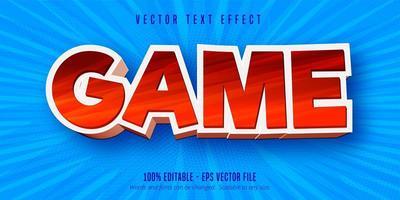 texto do jogo, efeito de texto editável no estilo desenho animado vetor