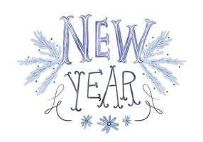 Fundo de Ano Novo vetor
