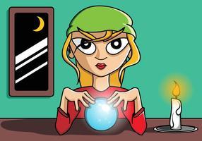 Gipsy fortune girl vetor