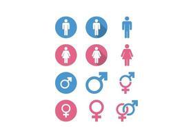 conjunto de ícones de logotipo de gênero