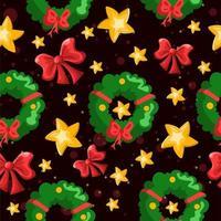 padrão repetitivo de decorações de férias de inverno vetor