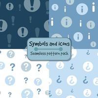 pontos de exclamação e padrões de ícones de informações