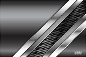 design metálico cinza com textura de fibra de carbono vetor
