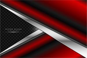 textura metálica vermelha e prata em forma de seta vetor