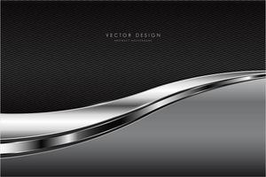 textura cinza e prata com fundo de fibra de carbono vetor