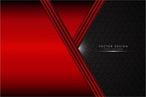 fundo metálico vermelho com espaço preto de fibra de carbono vetor