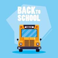 cartaz de transporte de ônibus escolar de volta