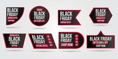 conjunto de banner de venda sexta-feira negra