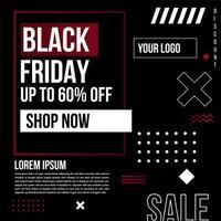 banner de venda de forma geométrica de sexta-feira negra