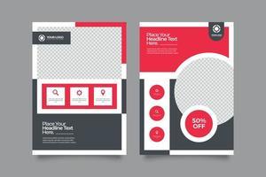 modelo de kit de promoção de capa de negócios vetor